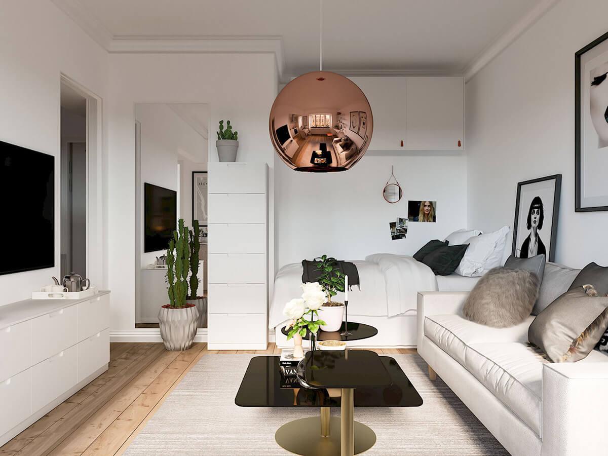 Mẫu thiết kế nội thất chung cư mini hiện đại