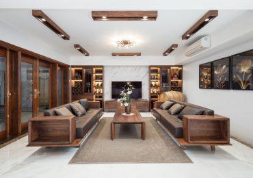 Mẫu thiết kế nội thất gỗ phòng khách hiện đại