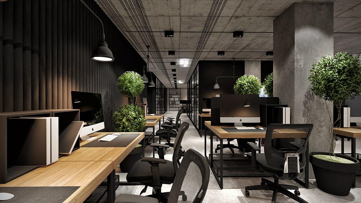 Mẫu thiết kế nội thất văn phòng kỹ thuật