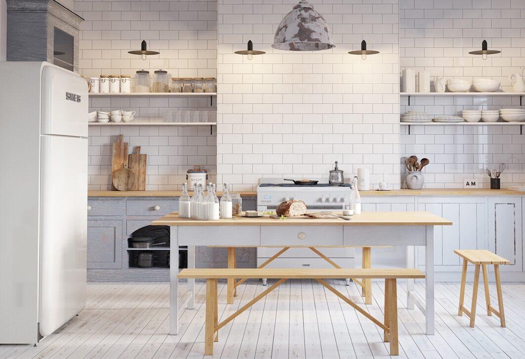 Bếp phong cách Bắc Âu