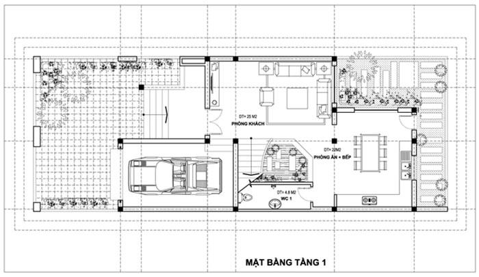 Mẫu nhà 3 tầng mặt tiền 6m