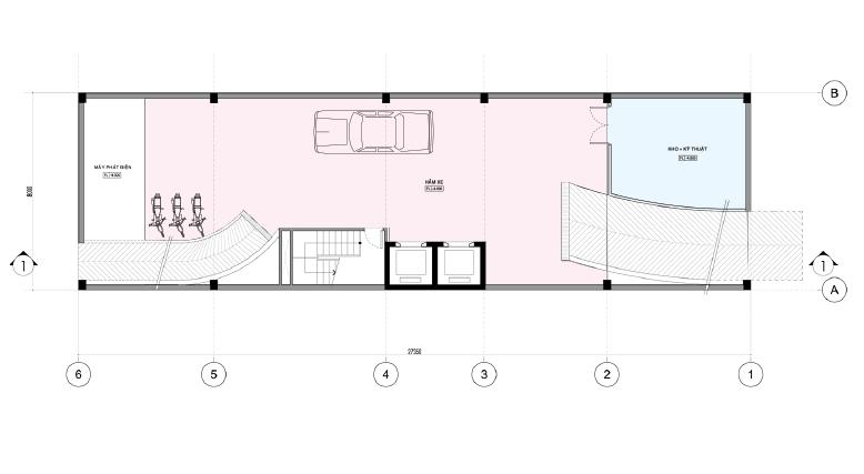 Mẫu thiết kế nhà ở kết hợp văn phòng cho thuê