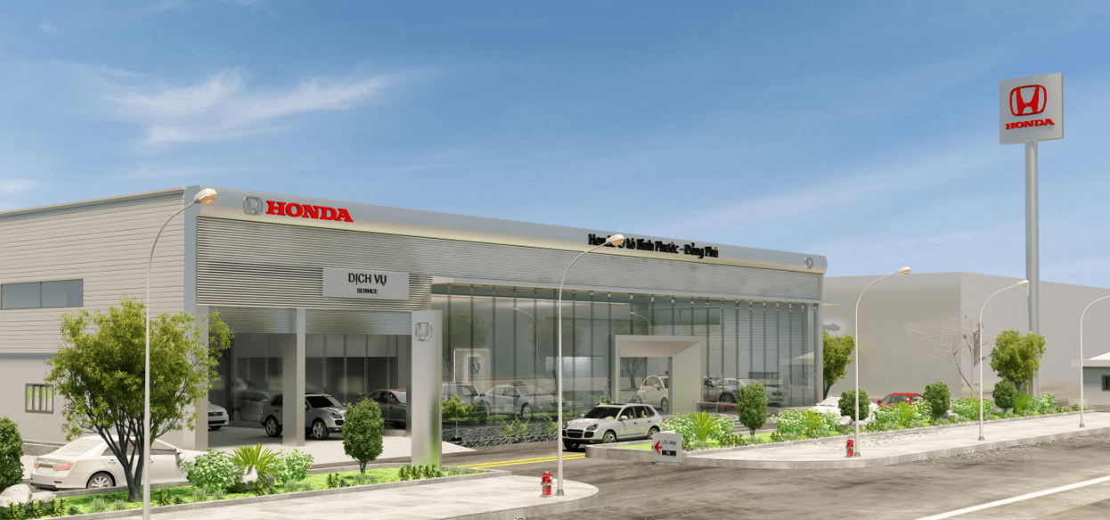 Mẫu thiết kế showroom ô tô Honda Bình Phước - Đồng Phú