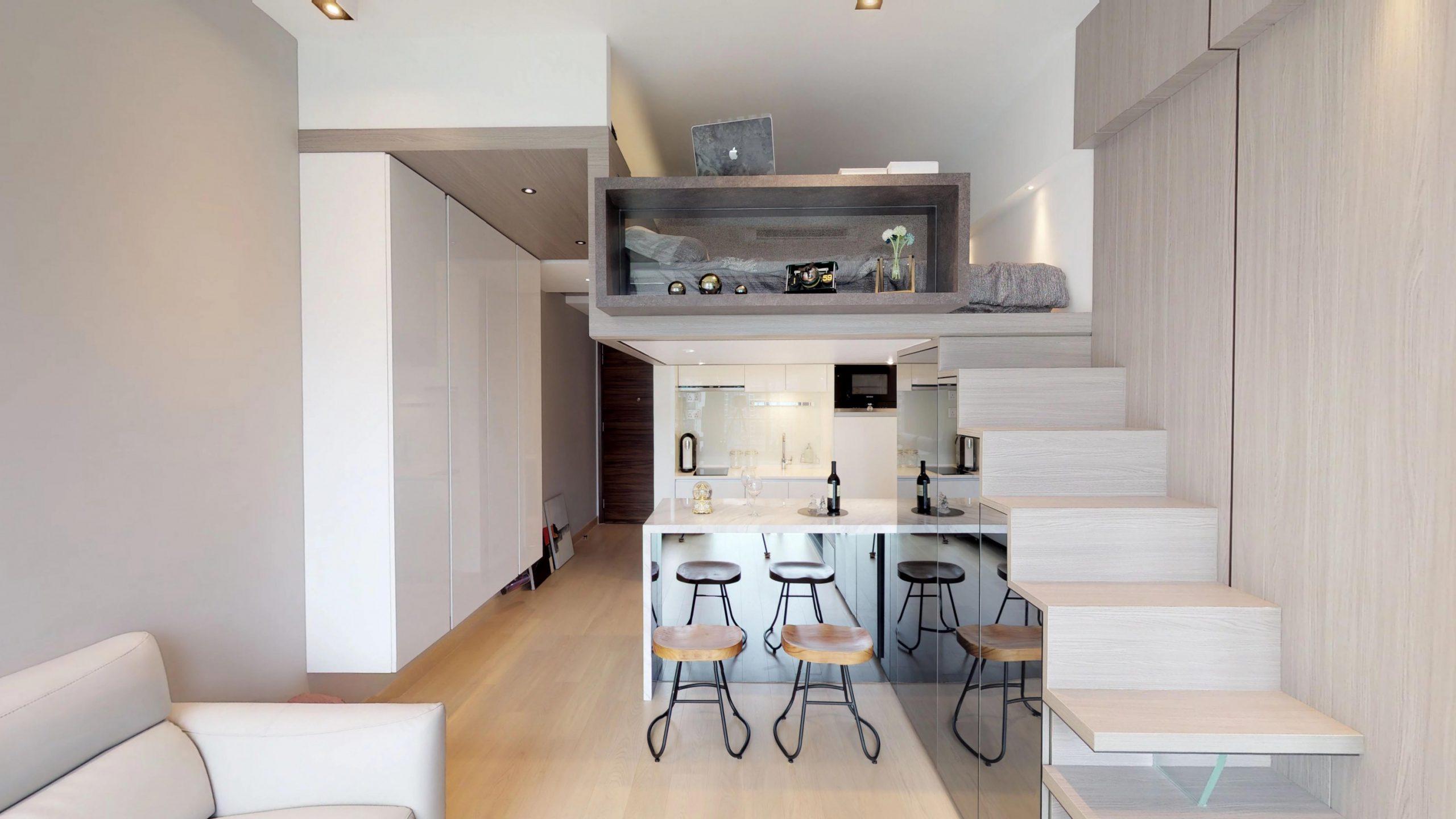 Phòng ngủ trên bếp