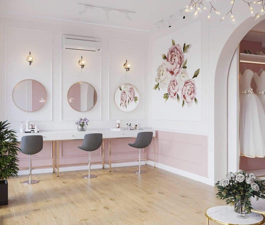 Mẫu thiết kế nội thất showroom áo cưới