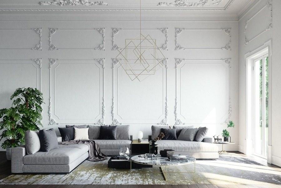 Ý tưởng thiết kế nội thất phòng khách biệt thự