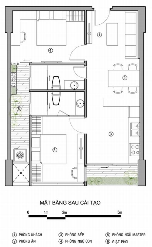 Cải tạo căn hộ 64m2