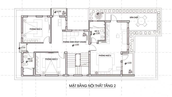 Mẫu biệt thự đẹp 3 tầng mái thái hiện đại tại Ngô Quyền Hải Phòng Ảnh 4