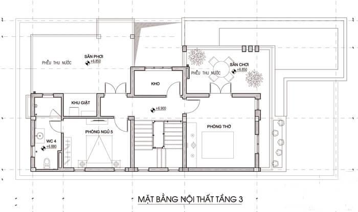 Mẫu biệt thự đẹp 3 tầng mái thái hiện đại tại Ngô Quyền Hải Phòng Ảnh 5