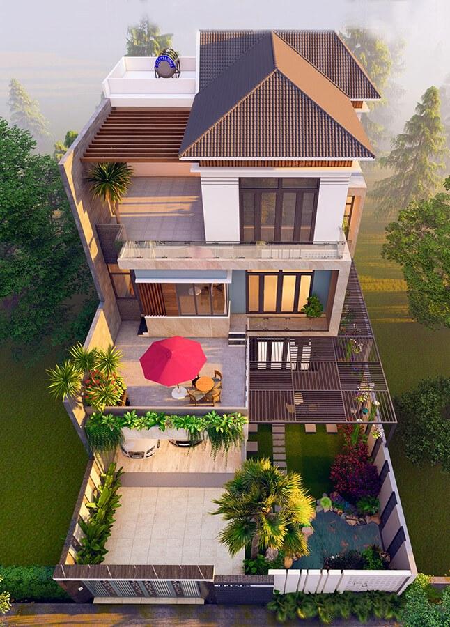 Mẫu biệt thự đẹp 3 tầng mái thái hiện đại tại Hải Phòng - Ảnh 2
