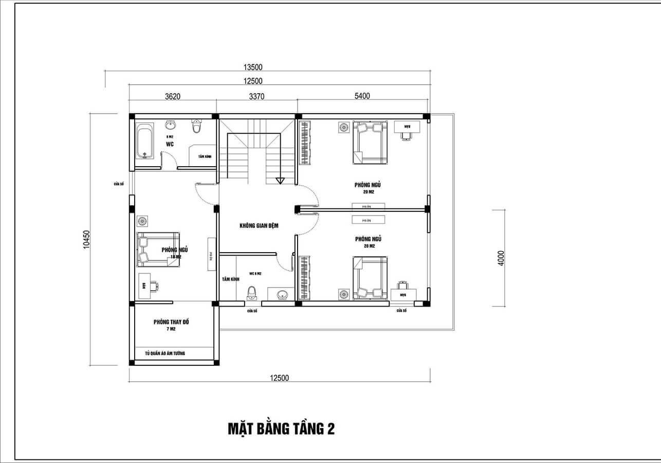 Mẫu biệt thự đẹp 3 tầng mái thái hiện đại tại Hải Phòng - Ảnh 5