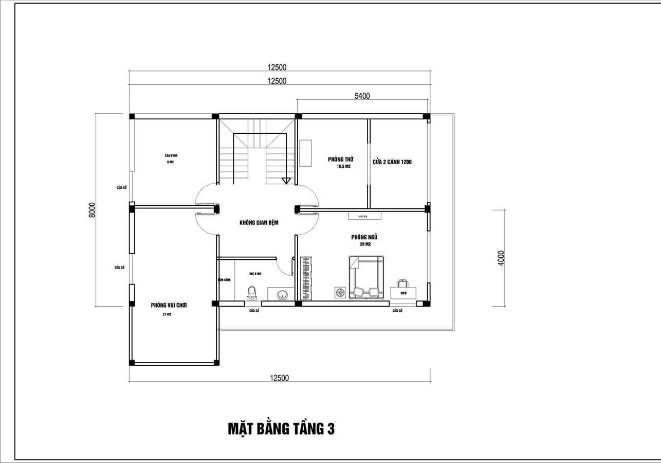 Mẫu biệt thự đẹp 3 tầng mái thái hiện đại tại Hải Phòng - Ảnh 6