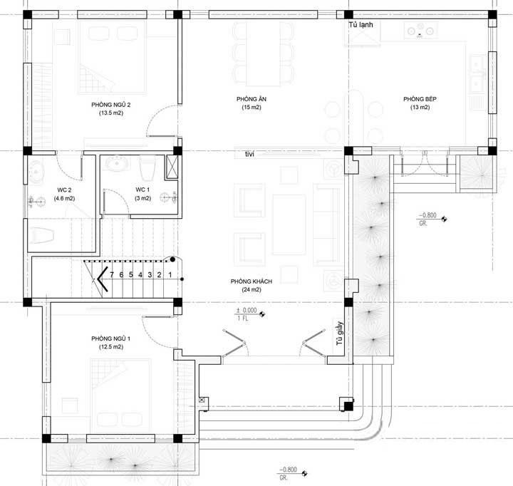 Mẫu nhà 3 tầng mái thái hiện đại
