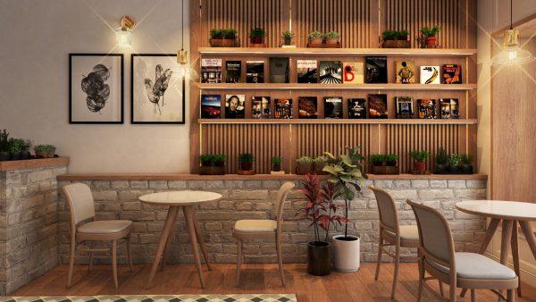 Mẫu thiết kế nội thất quán cafe
