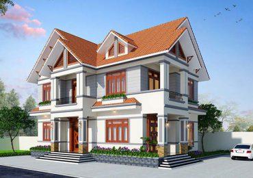 Mẫu nhà biệt thự mái thái 2 tầng đẹp