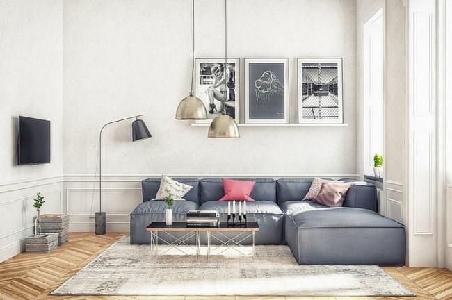 Mẫu phòng khách nhỏ đẹp hiện đại