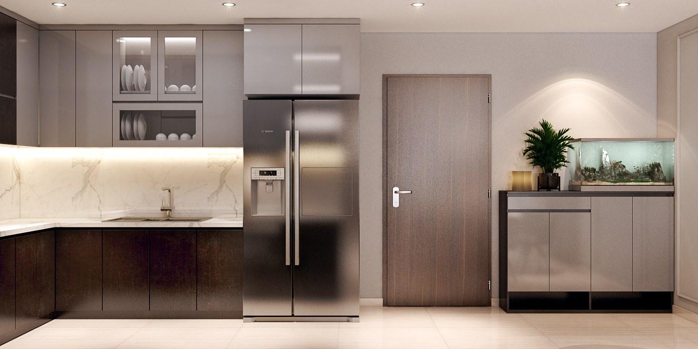 Mẫu thiết kế nội thất căn hộ cao cấp 2 phòng ngủ