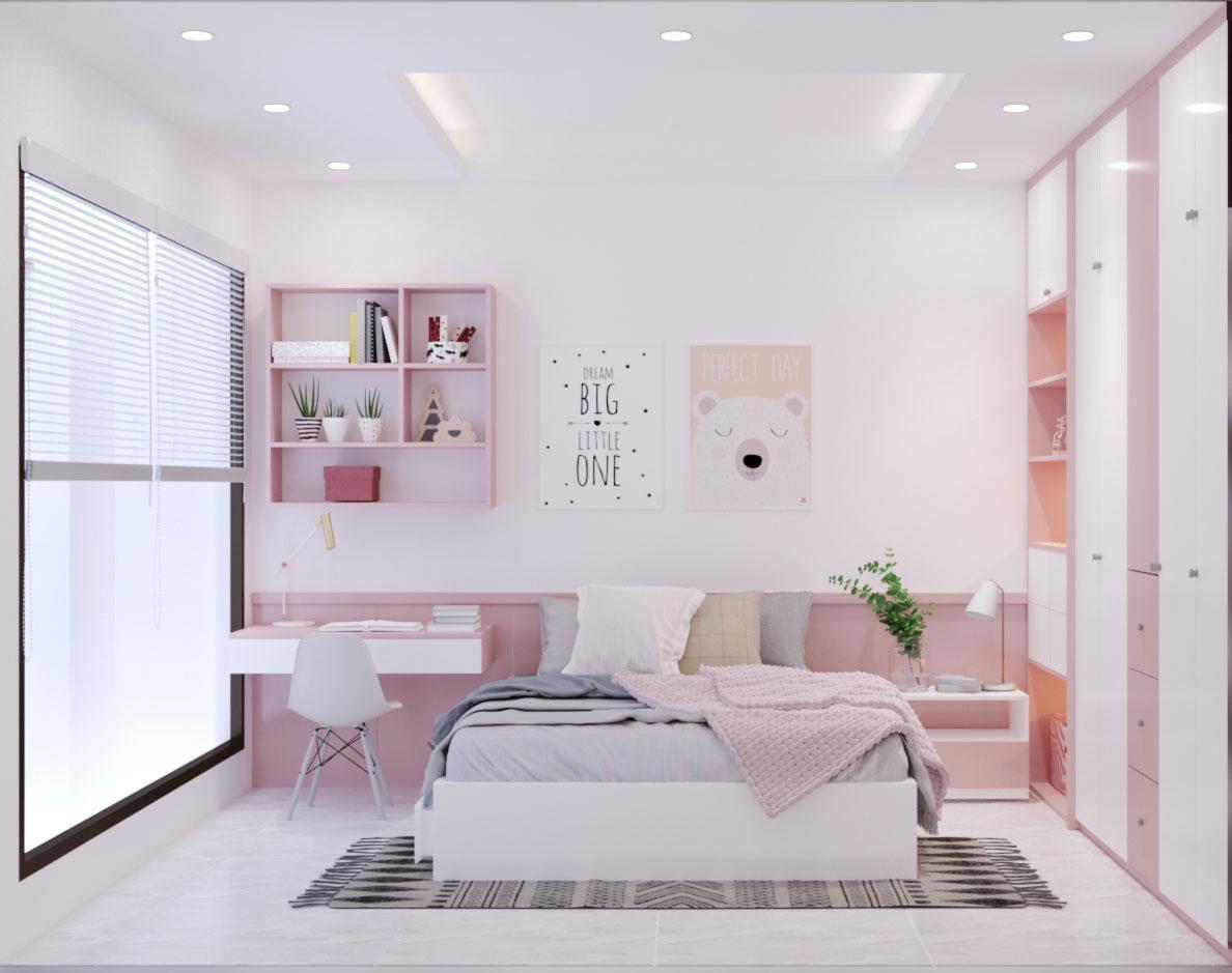 Mẫu thiết kế nội thất nhà ống 2 tầng