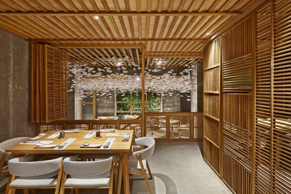 Mẫu thiết kế nhà hàng Nhật Nozomi