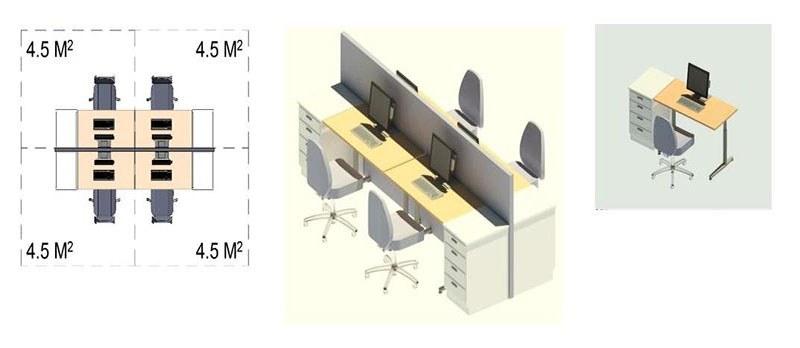 Tiêu chuẩn thiết kế văn phòng làm việc m2/người