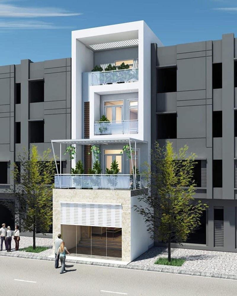 Mẫu nhà phố 4 tầng mặt tiền 5m