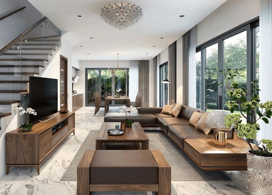 Mẫu phòng khách Á Đông đẹp