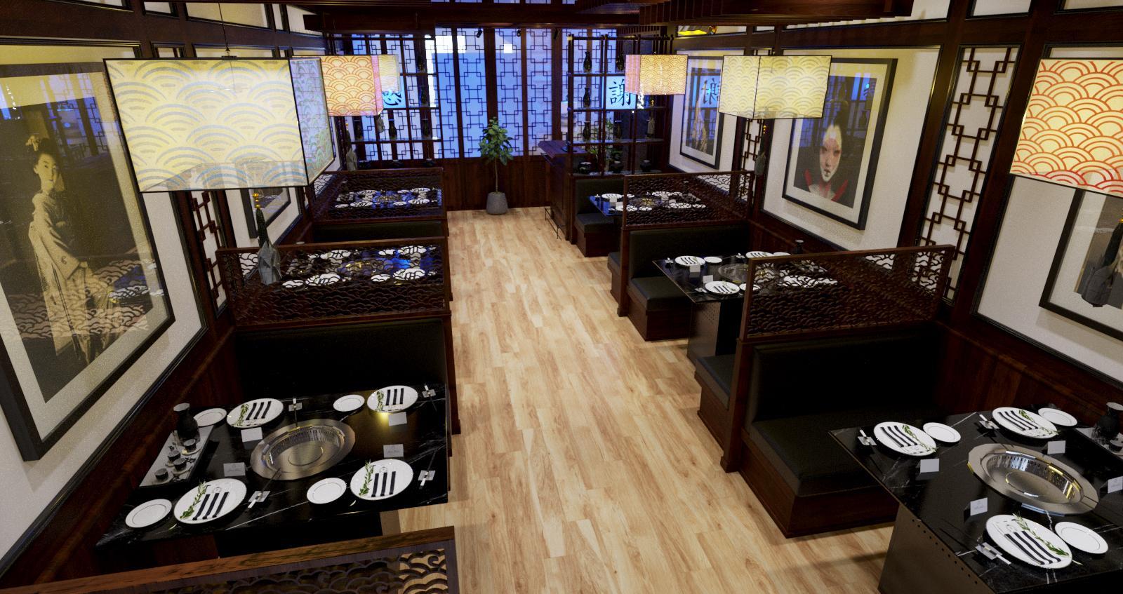 Mẫu thiết kế nhà hàng BBQ Nhật Bản