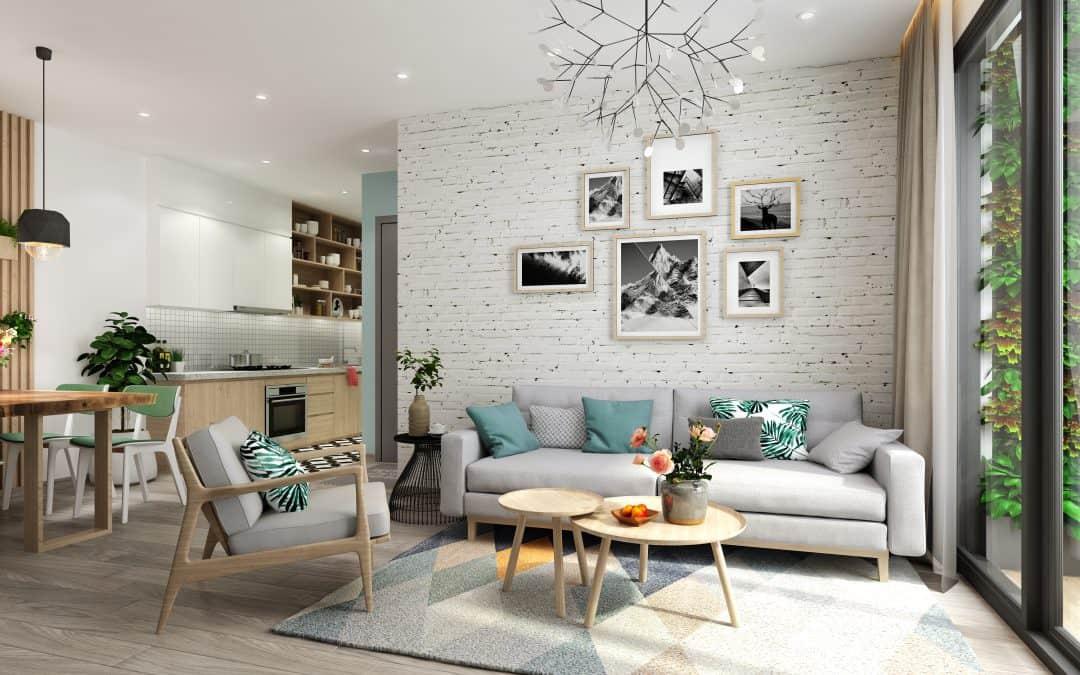Mẫu thiết kế nội thất căn hộ 68m2