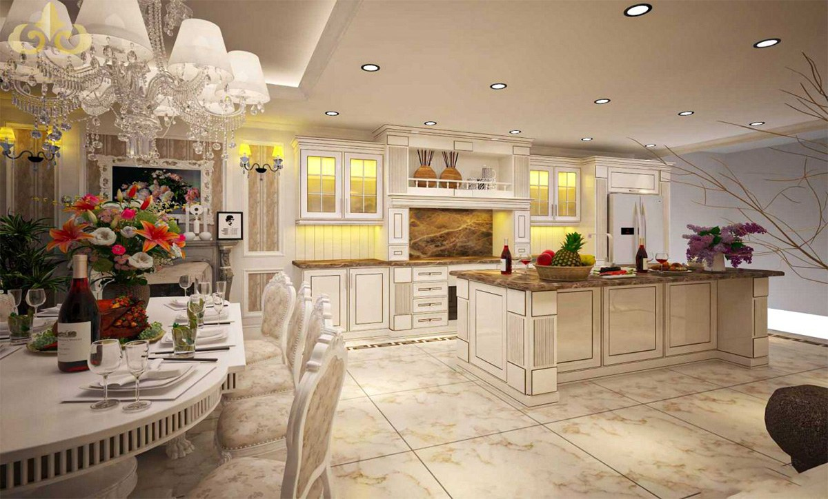 Mẫu tủ bếp đẹp