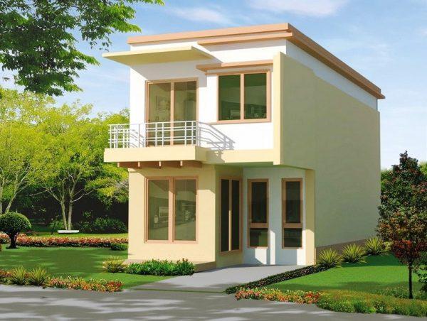 nhà 2 tầng ở nông thôn đơn giản, tiện nghi