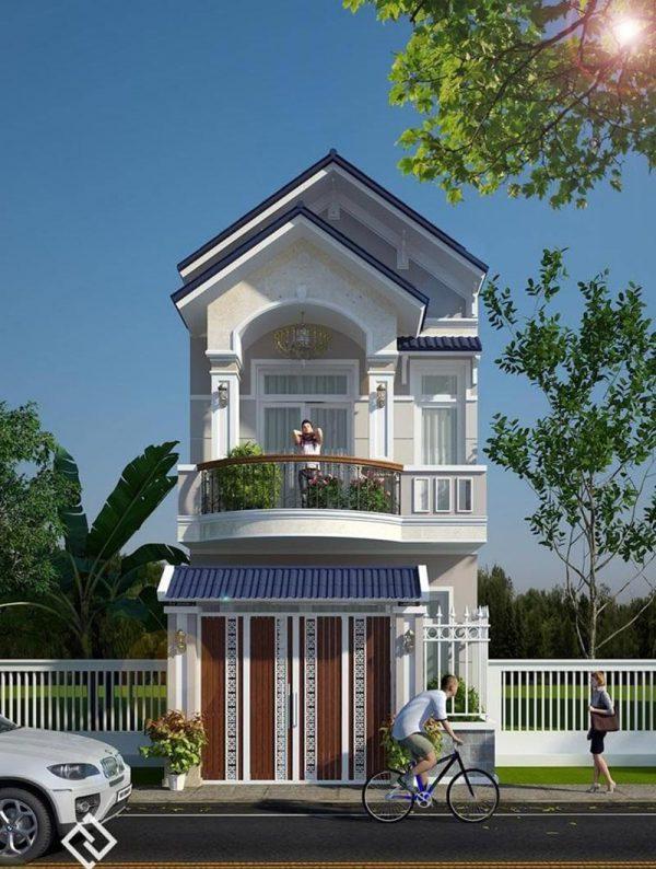 Nhà 2 tầng với thiết kế tân cổ điển sang trọng