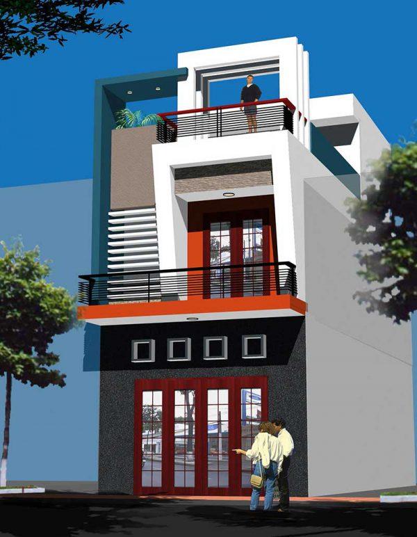 Các hình khối tạo nên mái nhà khiến người xem bất ngờ nhưng vẫn đảm bảo độ thoáng và đầy đủ công năng