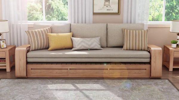 Sofa kết hợp tủ và giường cho nội thất gia đình