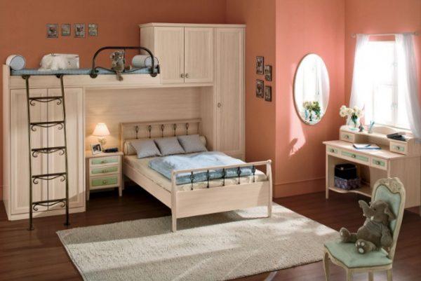 phòng ngủ giường tầng tích hợp tủ đồ