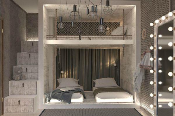 thiết kế giường tầng chắc chắn