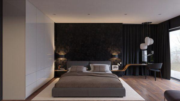 phòng ngủ kết hợp tông màu