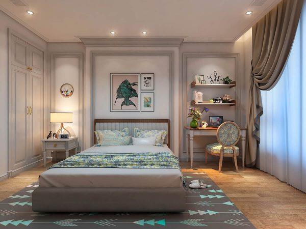 Phòng ngủ với tông màu hiện đại, sang trọng