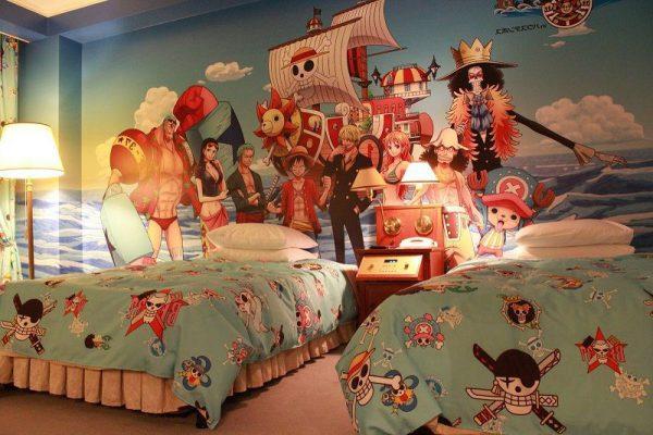 Vẽ tranh tường cho phòng ngủ anime