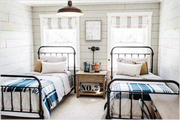 Thiết kế phòng ngủ 2 giường tiện nghi