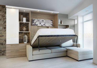 Giường kết hợp sofa màu trầm