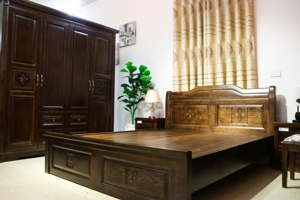 Giường ngủ nội thất gỗ tự nhiên sang trọng