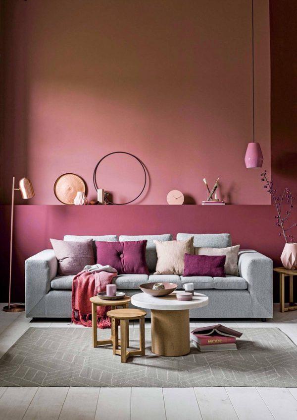 Căn phòng với sơn tường màu sắc độc đáo