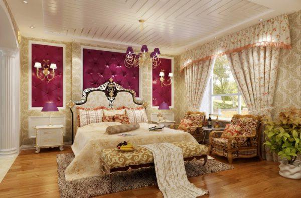 Thiết kế phòng ngủ sang trọng cổ điển