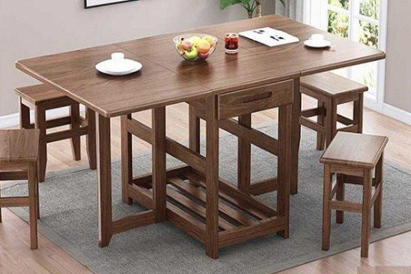 bàn ăn thông minh chất liệu gỗ
