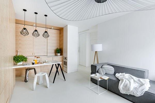Thiết kế không gian nội thất tối giản, hiện đại