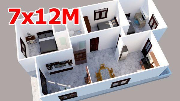 nhà cấp 4 7x12