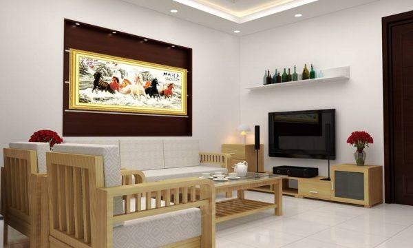Không gian căn phòng đơn giản và hiện đại