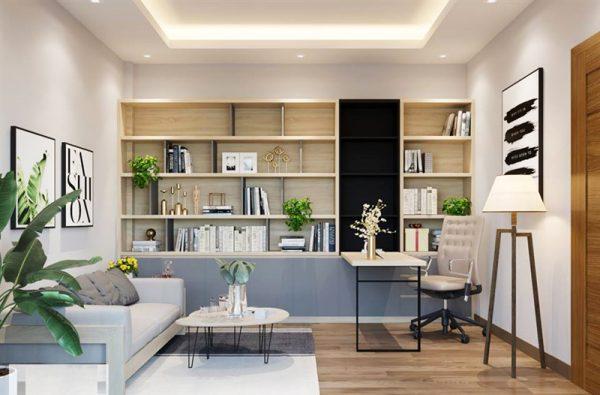 Phòng khách với nội thất thông minh