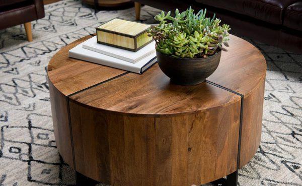 bàn tròn gỗ tự nhiên