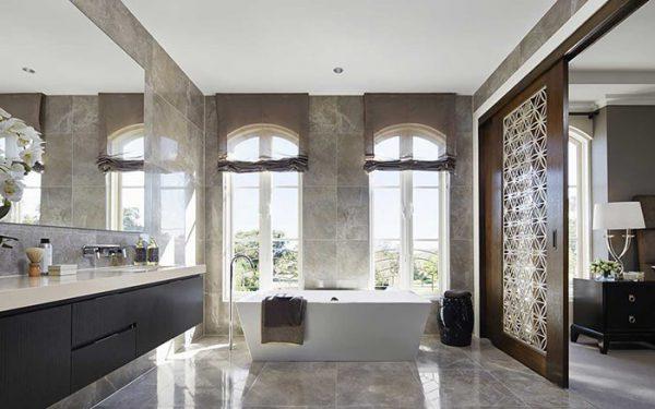 Nhà tắm biệt thự đẹp phong cách châu Âu tiện nghi, sang trọng